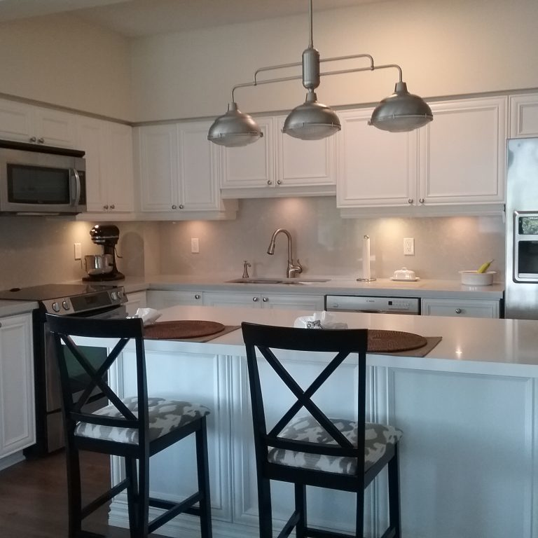 After - New countertop and backsplash